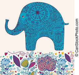 blomstrede, elefant