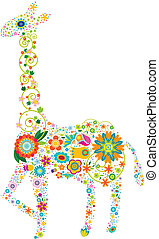 blomstrede, giraf