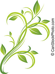 blomstrede, grønne, konstruktion