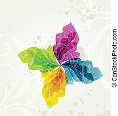 blomstrede, multicolor, transparent, baggrund
