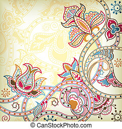 blomstrede, orientalsk, baggrund