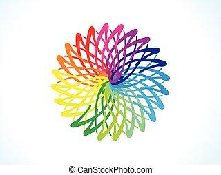 blomstrede, regnbue, abstrakt, cirkel, kunstneriske