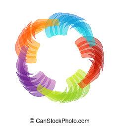 blomstrede, regnbue, eleme, konstruktion, farvet