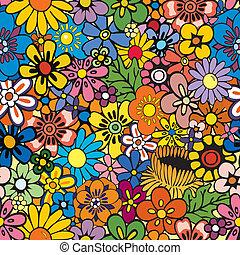 blomstrede, repeterende, baggrund