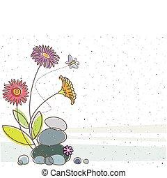 blomstrede, sommerfugl