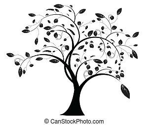 blomstrede, træ