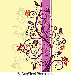 blomstrede, vektor, konstruktion, illustration