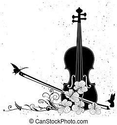 blomstrede, vektor, musikalsk komposition