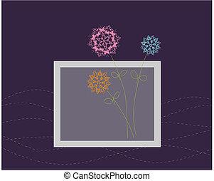 blomstret konstruktion, hilsen card