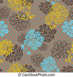 blomstret mønster, firmanavnet, seamless, retro