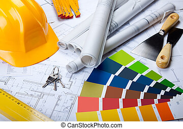 blueprints, redskaberne, arkitektur