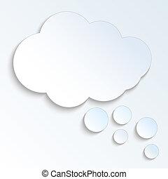 boble, vektor, eps10, sky, speech.