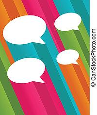 bobler, tale, farverig, 3