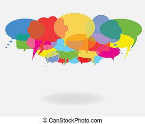 bobler, tale, samtalen