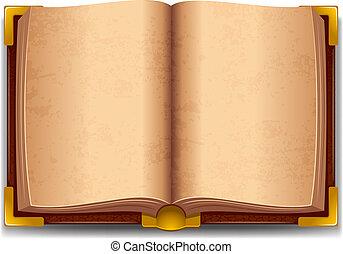 bog, gamle, åbn