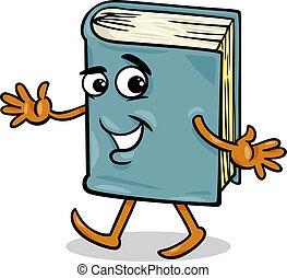 bog, karakter, cartoon, illustration