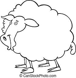 bog, sheep, coloring
