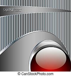 bold, abstrakt, baggrund, metallisk, rød, teknologi