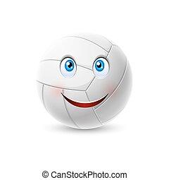 bold, karakter, cartoon, volleyball