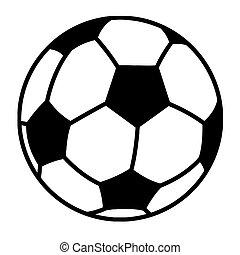 bold, soccer, skitseret