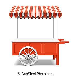 bonde marked, cart, rød