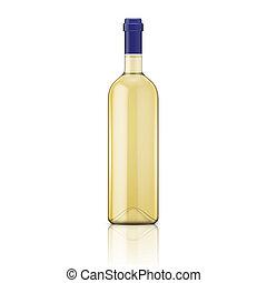 bottle., hvid vin