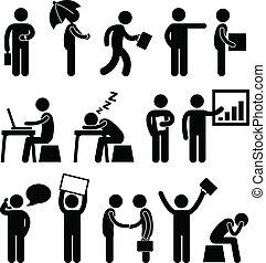 branche finan, kontor, arbejdspladsen