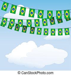 brasilien, bunting, flag