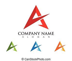 brev, logo, firma, skabelon