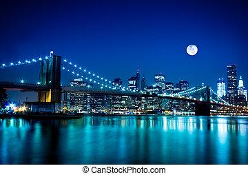 bro, brooklyn, byen, york, nye