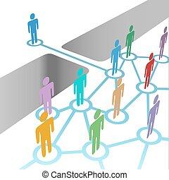 bro, sammenvokse, netværk, fusion, medlemskab, miscellaneous