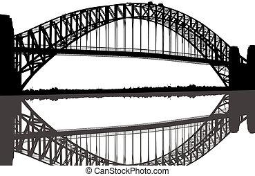 bro, silhuet, havn sydney
