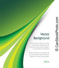 brochure, grøn baggrund