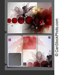 brochure, skabelon, design.