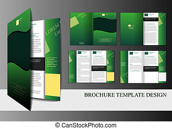 brochure, skabelon