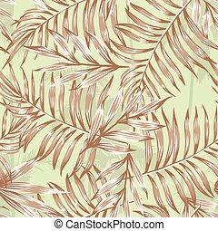 brun, blade, håndflade, mønster