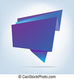 bubble., abstrakt, eps, tale, 8, origami