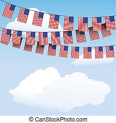 bunting, flag, striber, stjerner