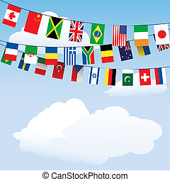 bunting, verden, flag