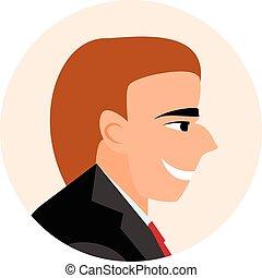 businessmen., lejlighed, folk., avatar, iconerne