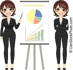 businesswoman, kort