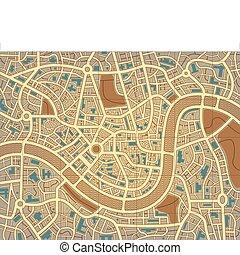 byen, navnløse, kort