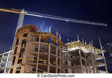 bygge konstruktion, site, nat