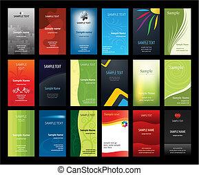 cards, sæt, firma, verical