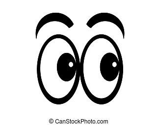 cartoon, øjne