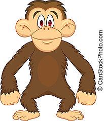 cartoon, chimpanse