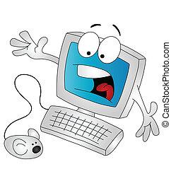 cartoon, computer