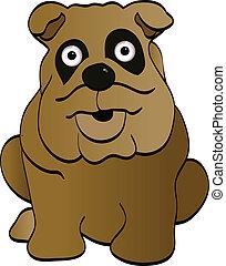cartoon, hund