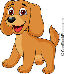cartoon, hundehvalp, cute