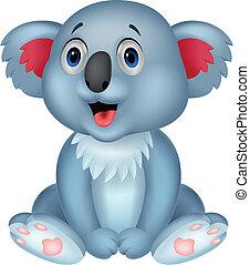 cartoon, koala, cute